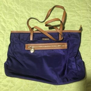 Michael Kors purple Nylon tote